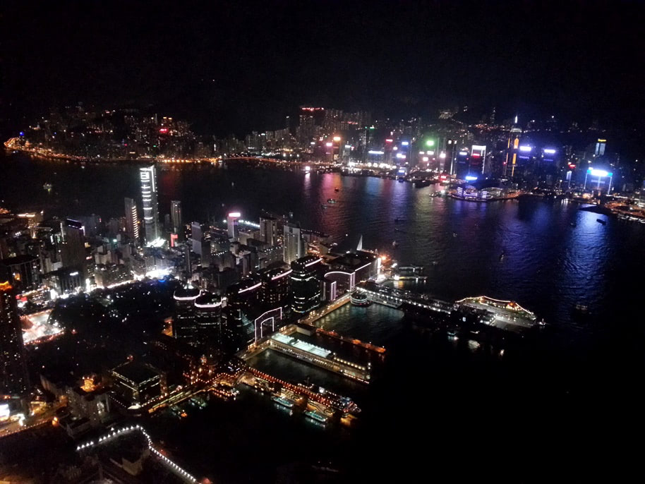 Hong Kong skyline from ICC Tower