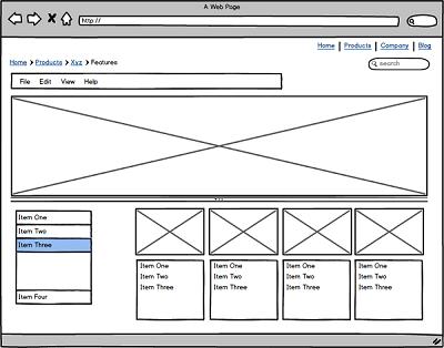 Sivuston käyttöliittymä kannattaa suunnitella silloin, kun oikeaa sisältöä jo on, mutta graafinen ulkoasu vielä puuttuu. Leiskakuvien piirtämiseen kätevä työkalu on Balsamiq Mockups.