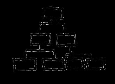 Rakennesuunnitelma alkaa usein sivustohierarkian suunnittelusta.