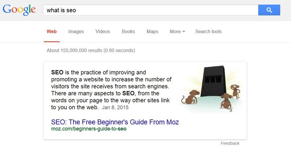 Google suora vastaus