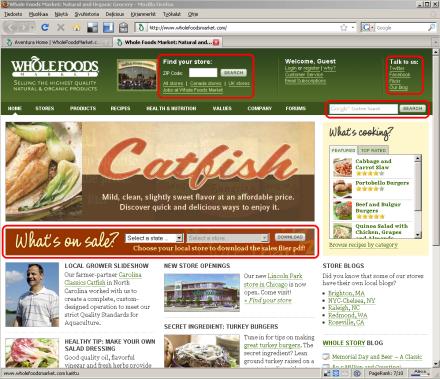 Whole Foods Marketin etusivu